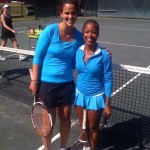 ATL Business Women's Singles - 4.5 - Mary Jo Fernandez congratulates Imani Leonard (champ)