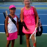 Junior Girls -- 11u B, Group 1 -- Isabella Sanchez (Champion) & Kaitlyn Chalker (Finalist)