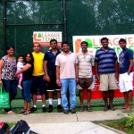 ATL Men's Doubles 4.0 - Adarsha Hegde & Ferdin Yesudhasan with family & friends (champs)