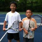 Boys Singles - 11u A - Sean Aquio (champ) & John Lasanajak (right)