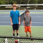 Boys Singles - 14u C - Robert Brookman (finalist) & Matthew Ramberger (champ)