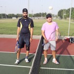 HOU Mens Singles - 4.0 - Harry Singh (finalist) and David Santos (champ)