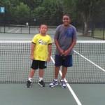 11u A Boys Singles - John Lasanajak (champ) and Ethan Kow (finalist)