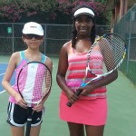 14u C Girls Singles - stephanie chan (finalist) and Eliza-Lee Barnes (champ)