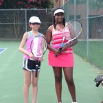 14u C Girls Singles - stephanie chan (finalist) and Eliza-Lee Barnes (champ) 2