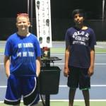 14u C Boys - Joshua Ruiter - champ and Shubhang Arashanapalli - finalist
