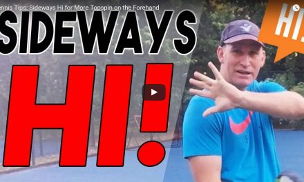 Forehand Follow Through: The Sideways Hi